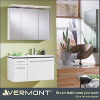 Melamine Bathroom Furniture Vanity Shelf Side Cabinet Modern Hanging Washroom Vanities