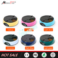 Alibaba hot products automatic 6 meals LCD raised PF-18 proof dog bowls pet feeder for puppies/cats