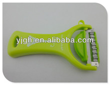 kitchen vagetable and fruit appler peeler with soft TPR protector and megnet flat blade