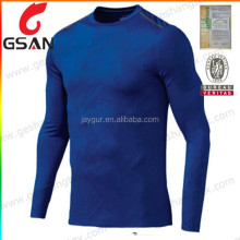 High quality mens compression gym long sleeve tee