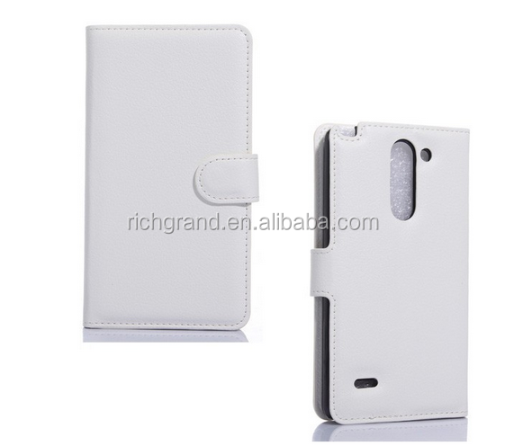 High Quality magnetic wallet flip Leather case with card slot For LG G3 Stylus D690