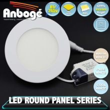 Dimmable Round LED Panel Light 3W 6W 9W 12W 15W 18W 24W Available