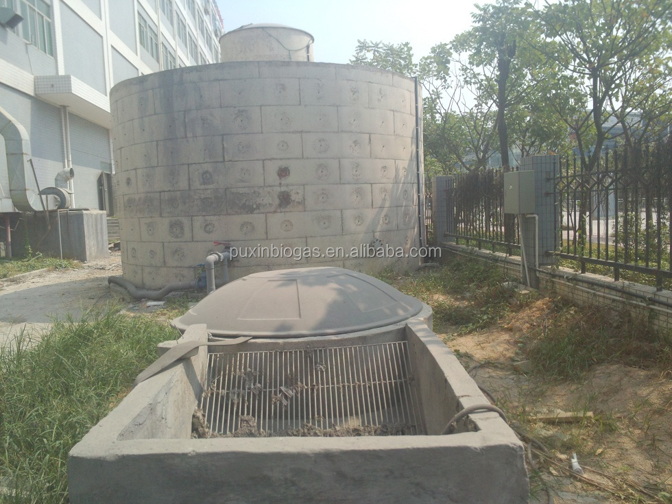 PUXIN concrete biogas plant system for farm with 500 pigs
