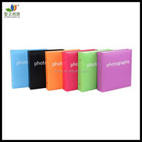 Screw post bound pp pocket leather slip in 4x6 photo album plain 200 photos(6 colors for choose)