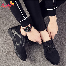 Cheap sport shoe for men fashion casual shoes breathable sneakers durable black pvc shoes