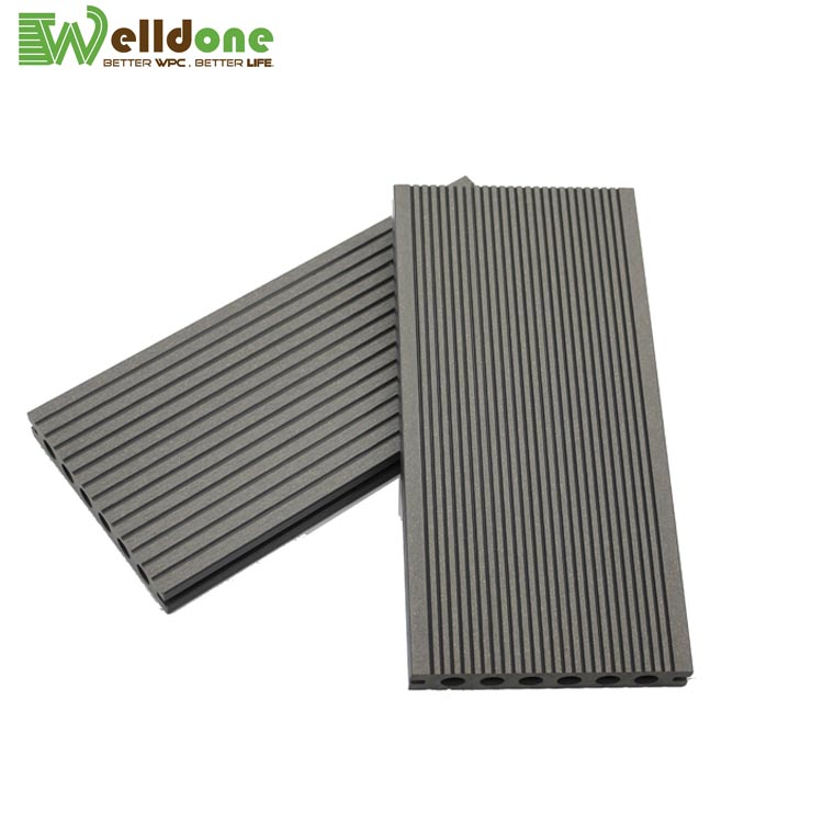 grey color WPC screws decking