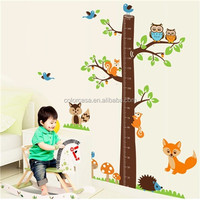colorcasa animated sticker wall decal home decor ZY221AB nursery decor baby room decor wall sticker tree growth chart decal