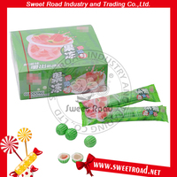 Watermelon Shaped Bubble Gum Center Filled with Pudding Jam