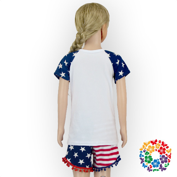 High Quality Baby Clothes 4th Of July Baby Clothing Sets Newborn Baby Girls Cotton Clothing Set