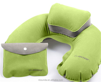 Airline sleeping inflatable pillow with colorful print logo