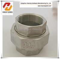 factory directly BSP / NPT Threaded Screwed Stainless Steel Pipe Fitting Union