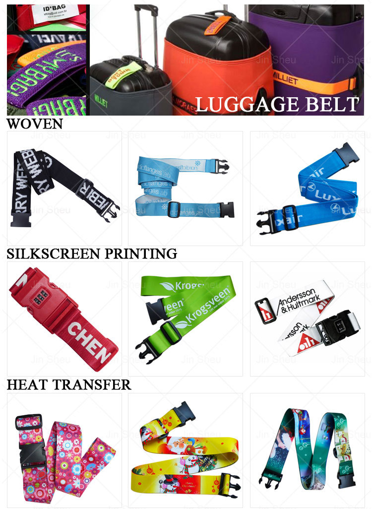 wholesale custom made polyester luggage belt
