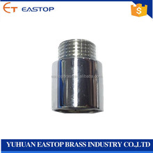 "1/2"" bsp/npt male female pipe chrome plated straight chromed nipple brass extension fitting"