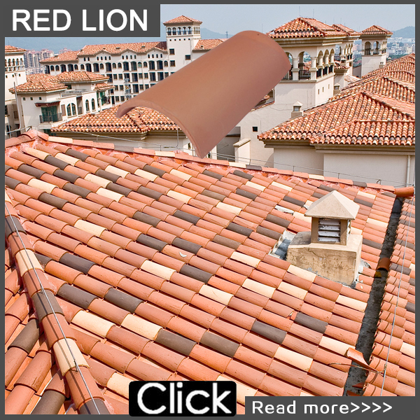 Redland roofing tiles round house roof 001-A1