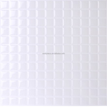 High gloss self-adhesive white color waterproof kitchen vinyl wallpaper