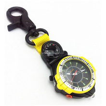 Hot style mountaineer outdoor clip carabiner camp compass watch