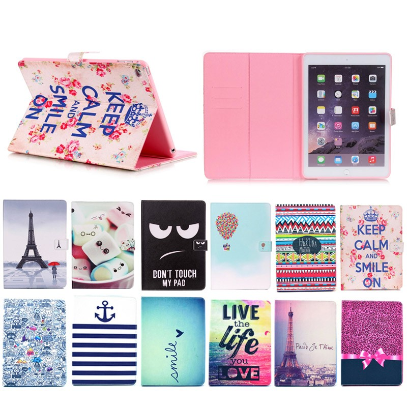 colorful many animal design TPU + PU leather case for apple ipad mini 4, for ipad mini 4 cute case