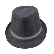 Ex-factory price cheap men polyester wholesale fedora hat