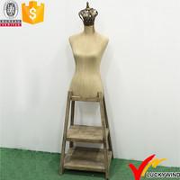 Vintage Woman Boutique Decorative Mannequins with Wood Stand