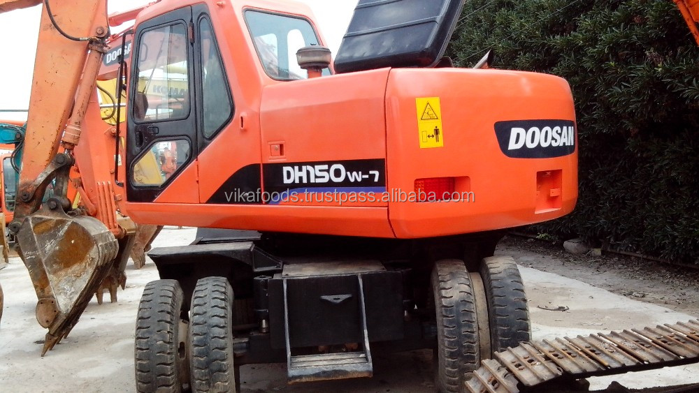 Used Doosan DH150W-7 excavator ,original south korea, good condition used Doosan DH150w-7