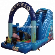 New designed inflatable ocean theme slide with obstacles for commercial use