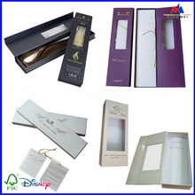 Custom made rigid high quality cardboard packaging box for hair extension