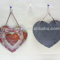 Hot Sale Heart Slate Hanging Crafts