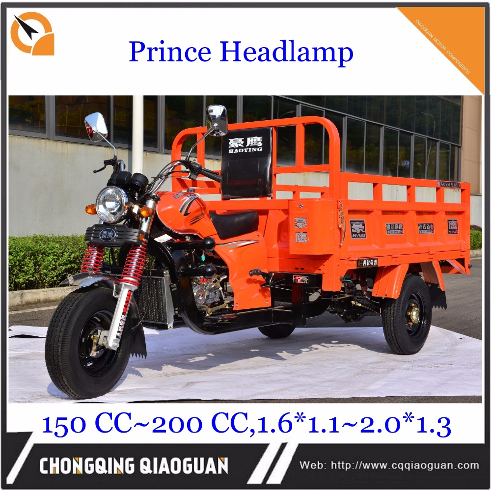 Africa hot and cheap prince headlamp 150cc LIFAN engine cargo tricycle 3 wheel loader motorcycle