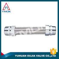 brass connector metal with stainless steel material iron/copper bellows pipe fittings corrugated pipe flexible hose in oujia