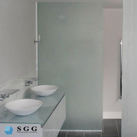 Acid Stain Etch Tempered Glass Wall,acid etched tempered glass