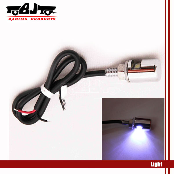 2X White LED Stylish License Plate Bolt Light Motorcycle Auto Car Truck