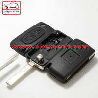 Okeytech car key Peugeot 307 2 buttons remote key case for key peugeot 307