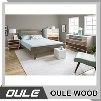Ready set room furniture modern design wood bed chinese redwood furniture
