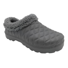 china shoes factory winter eva clogs with cotton lining gray grid pattern winter shoes women