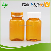 120ml PET Orange Pill Bottle With Aluminum Screw Cap