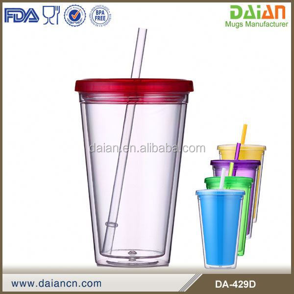 Tumbler with straw, cold tumbler ice cube