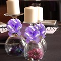 Wedding Table Decoration Idea Solid Ribbon Pull Bow Romantic Dinner Candle Stand wedding high table decor decoration
