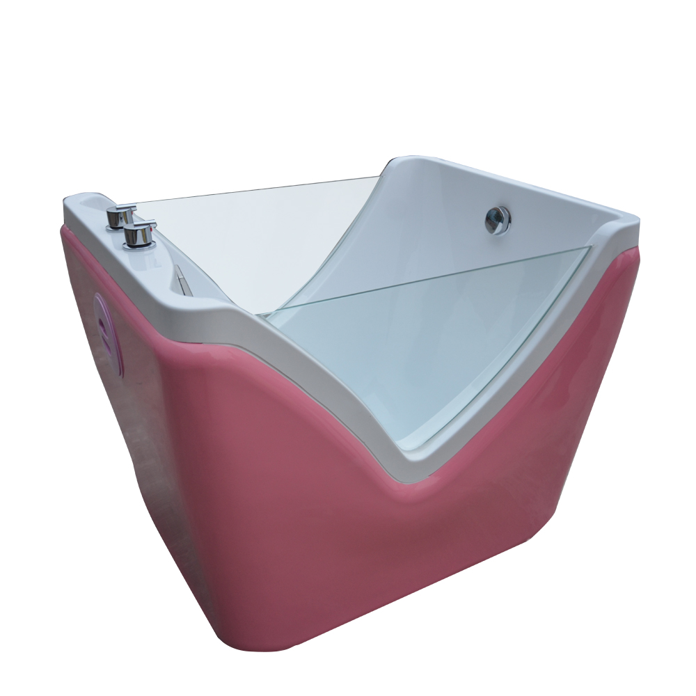 HS-B14 indoor small pink baby bath tub with air bubble function ...