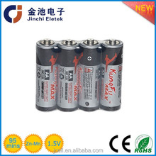 PVC /metal jacket 1.5V AA R6 zinc carbon battery R6 AA super heavy duty battery dry cell R6 1.5V