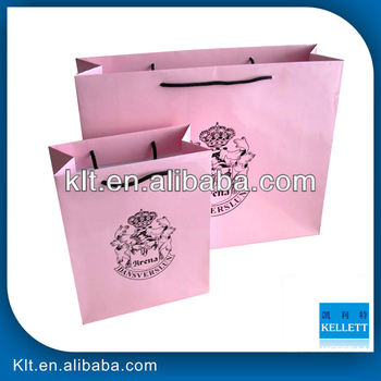 Pink clothes paper shopping bag