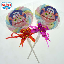 WISICHI strawberry marshmallow lollipop 30g twisted mallow POP