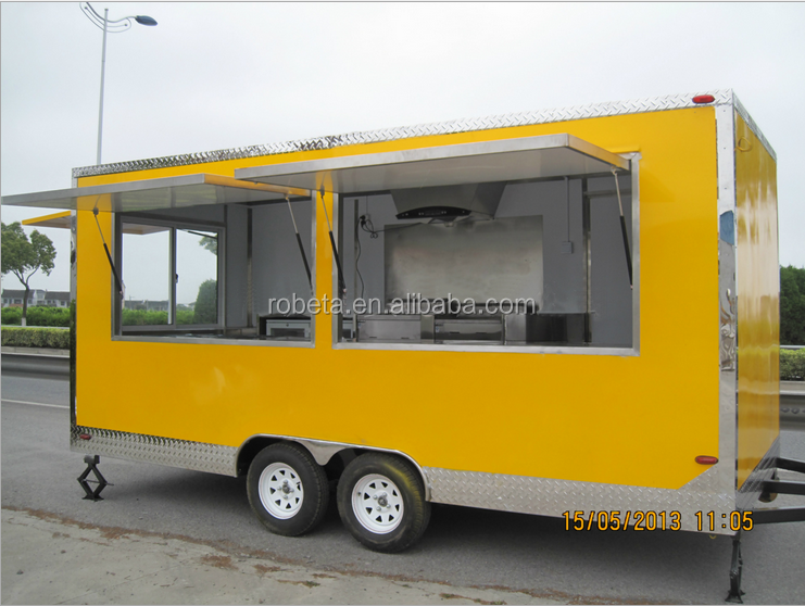 Top quality promotional new food Burger van