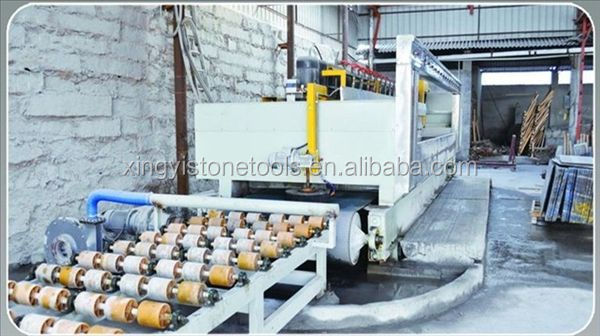 Marble flagstone continuous polishing line