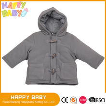 Winter outerwear jacket with hood shell soft polar fleece with poly filled cotton jersery linning baby children casual wears