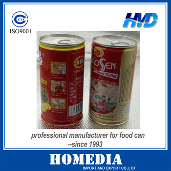 7113# Golden coating Beverage tin cans with lids for food canning