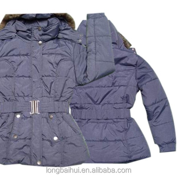 export surplus used clothes women winter jacket overstocks