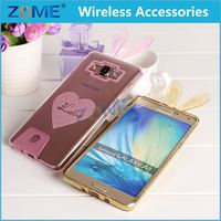 Alibaba China Transparent Animal Shaped Cute Lovely Shinny Rabbit Glitter TPU Mobile Phone Cases for Samsung Galaxy A7