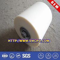 Silicone rubber roller wheel