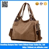 Washed canvas European popular fashion big capacity girls canvas shoulder bag with high quality