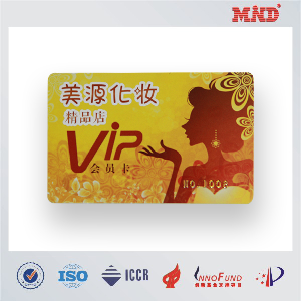 MDC0146 Non-laminating club vip cards silvery pvc for id card print
